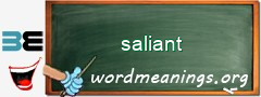 WordMeaning blackboard for saliant